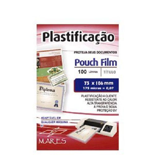 Kit 500 Plasticos Polaseal para Plastificação Título de Eleitor 73x106x0,07mm (175 micras)  - Click Suprimentos