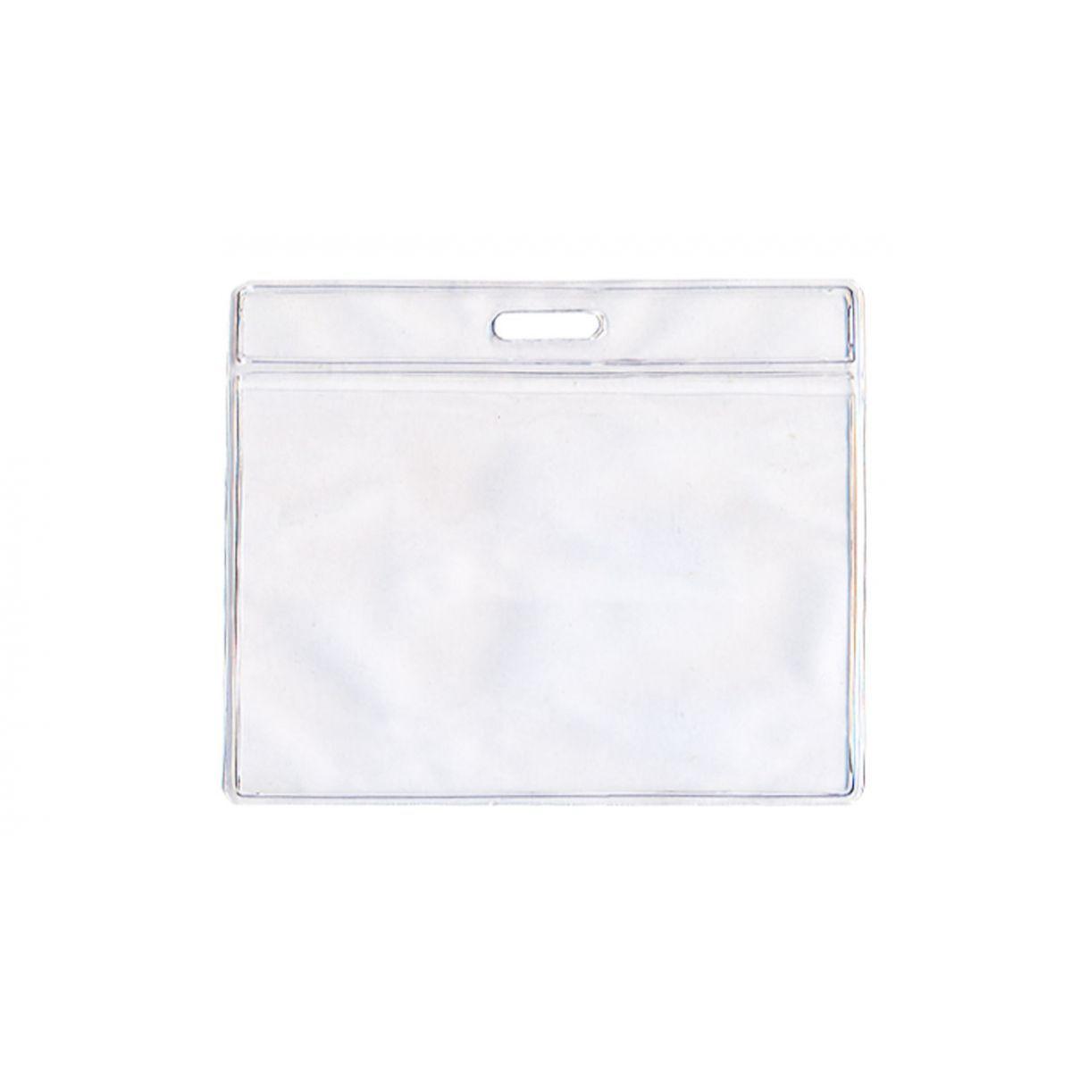 Kit 500 Protetores Porta Crachá em Bolsa PVC Cristal Horizontal 58x89x0,20mm  - Click Suprimentos