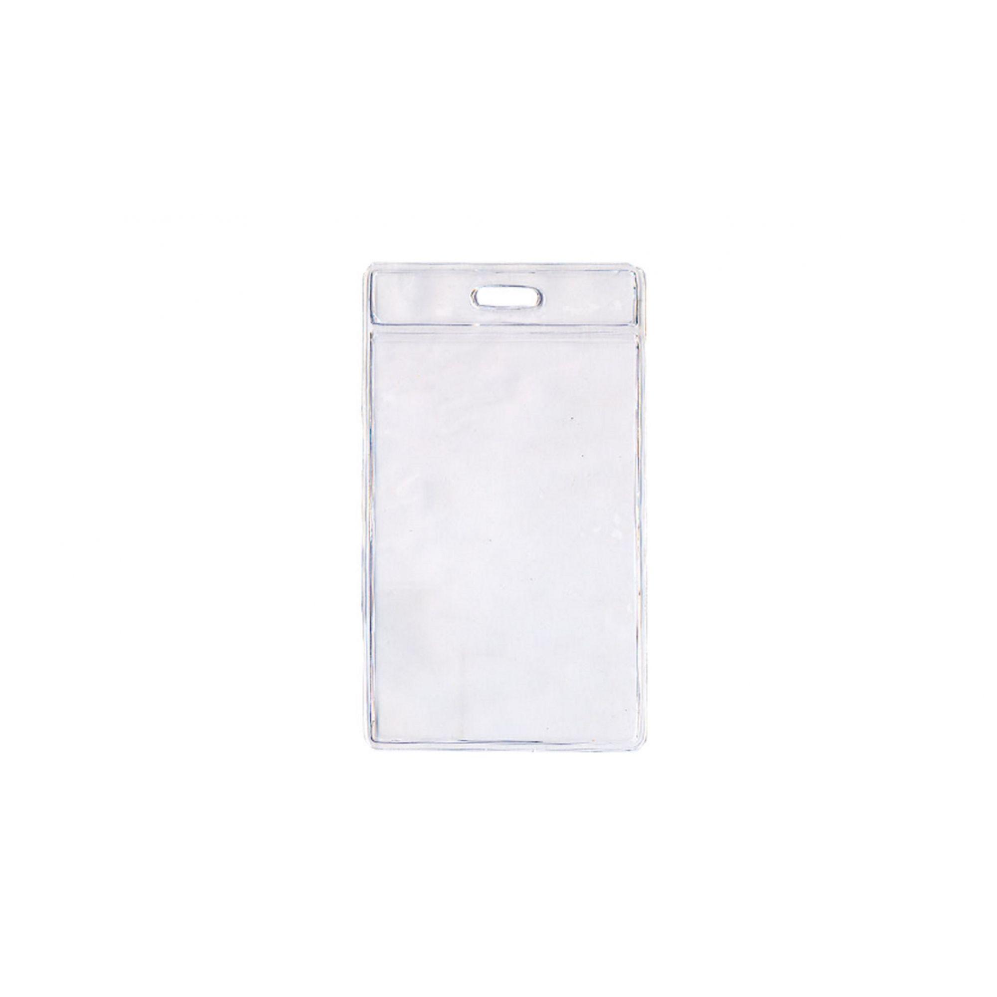 Kit 500 Protetores Porta Crachá em Bolsa PVC Cristal Vertical 58x89x0,20mm  - Click Suprimentos