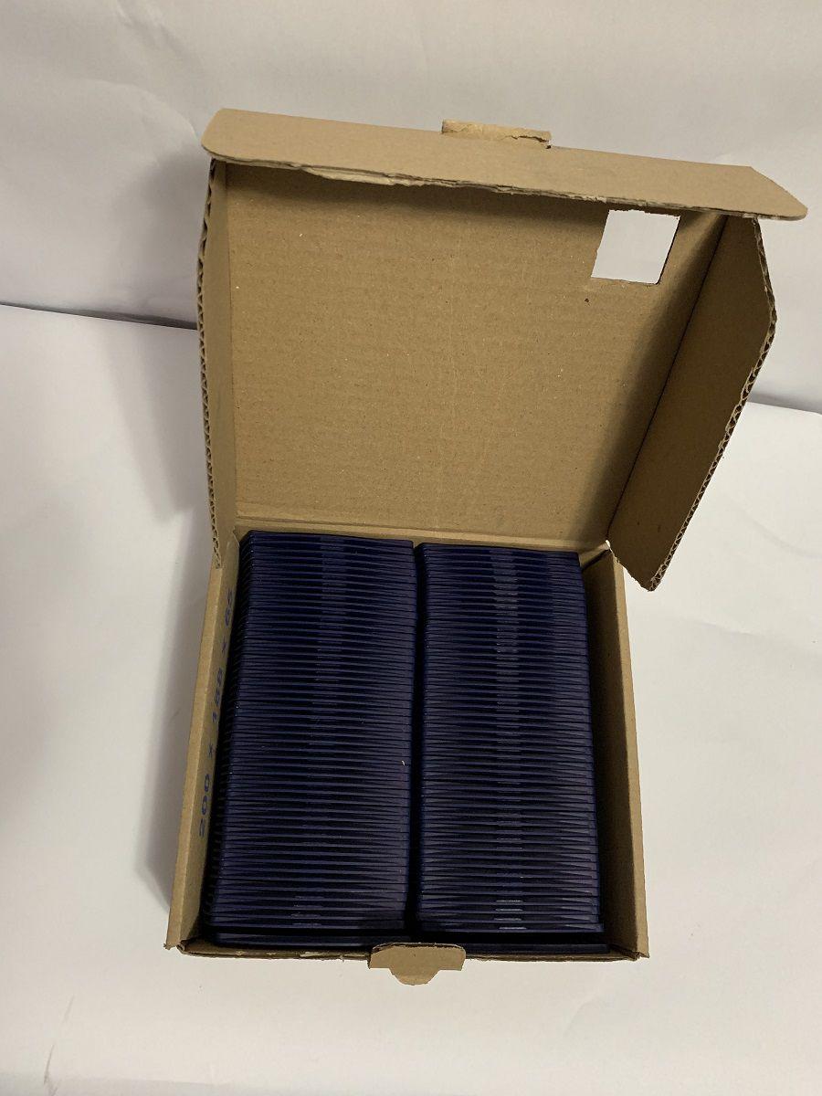 Kit 500 Protetores Porta Crachá Rígido M3 Conjugado Azul Marinho  - Click Suprimentos