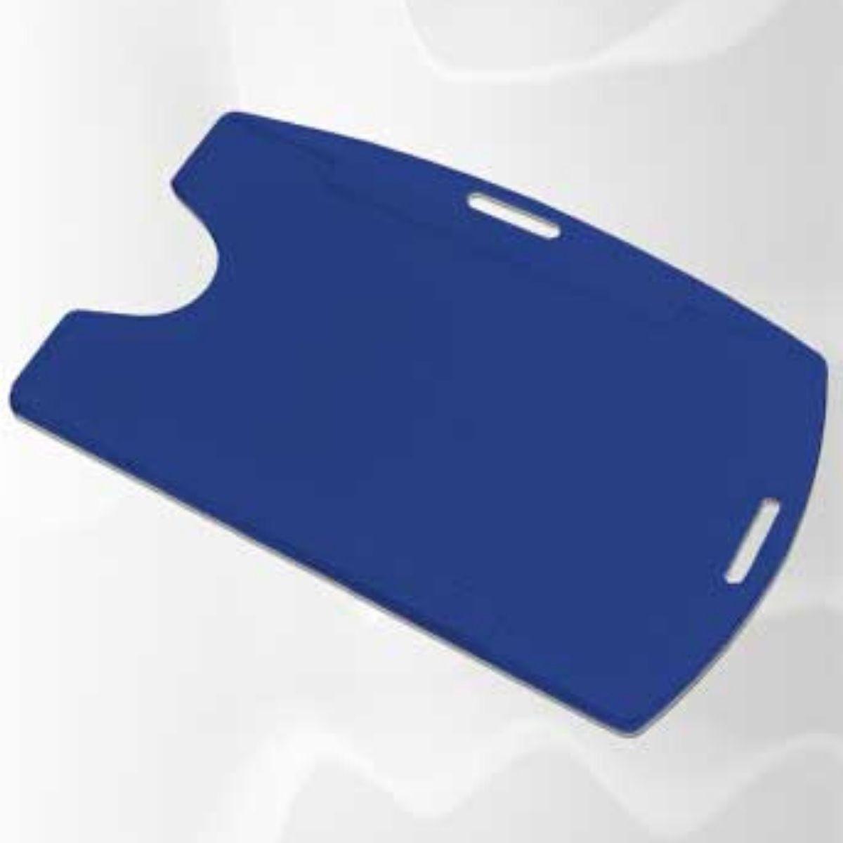 Kit 500 Protetores Porta Crachá Rígido M3 Conjugado Azul Royal  - Click Suprimentos