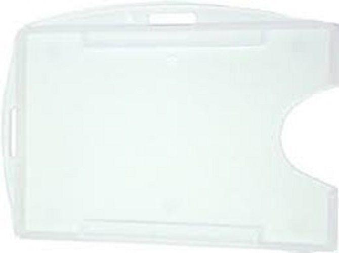Kit 500 Protetores Porta Crachá Rígido M3 Conjugado Duplo Transparente (Cristal)  - Click Suprimentos
