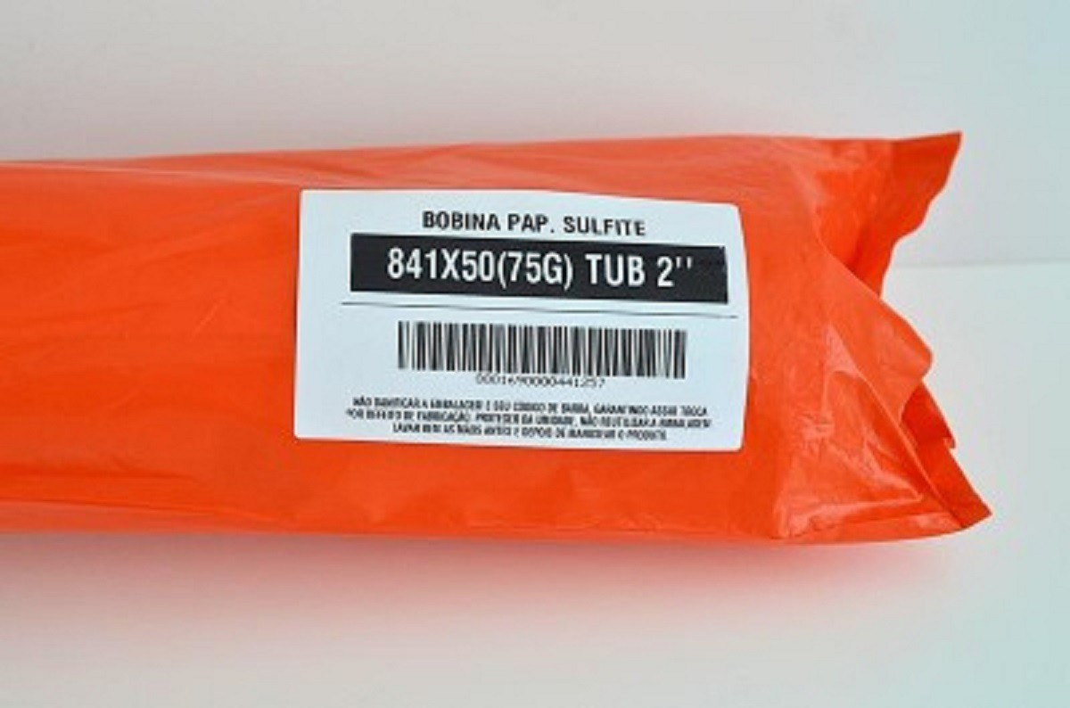 """Kit 5 Bobinas de Papel Sulfite para Plotter 841x50M 75g/m² T2""""  - Click Suprimentos"""