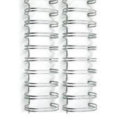 Kit 600 Garras Wire-o para Encadernação A4 Prata Passo 3x1 - 9/16, 1/2, 7/16, 3/8, 5/16 e 1/4  - Click Suprimentos