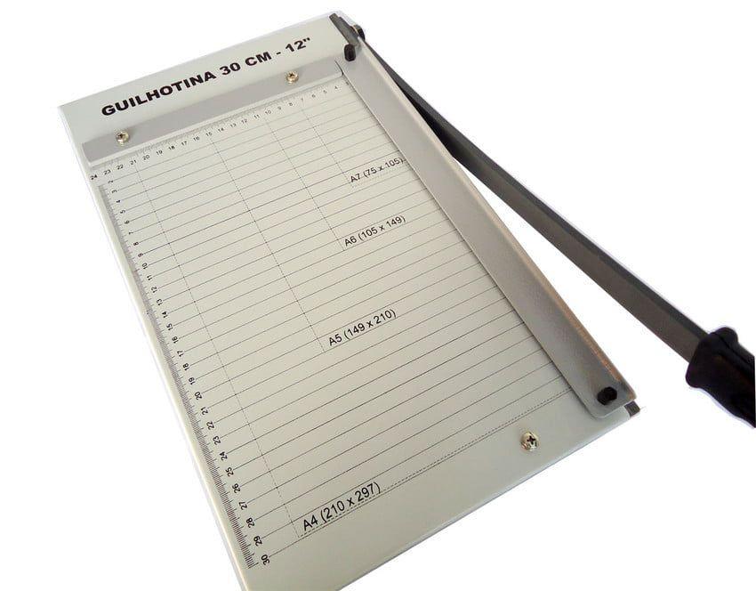 Kit Encadernadora A4 + Guilhotina + 200 Capas e 100 Espirais  - Click Suprimentos