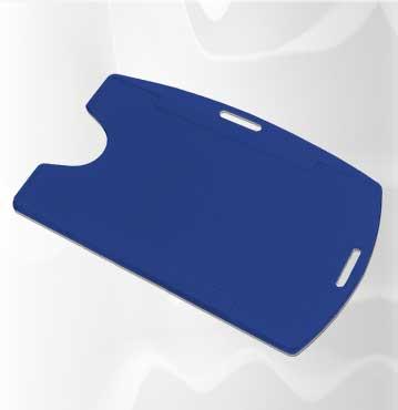 Kit Cordão + Porta Crachá Rígido Conjugado Azul Royal - 100 unidades  - Click Suprimentos
