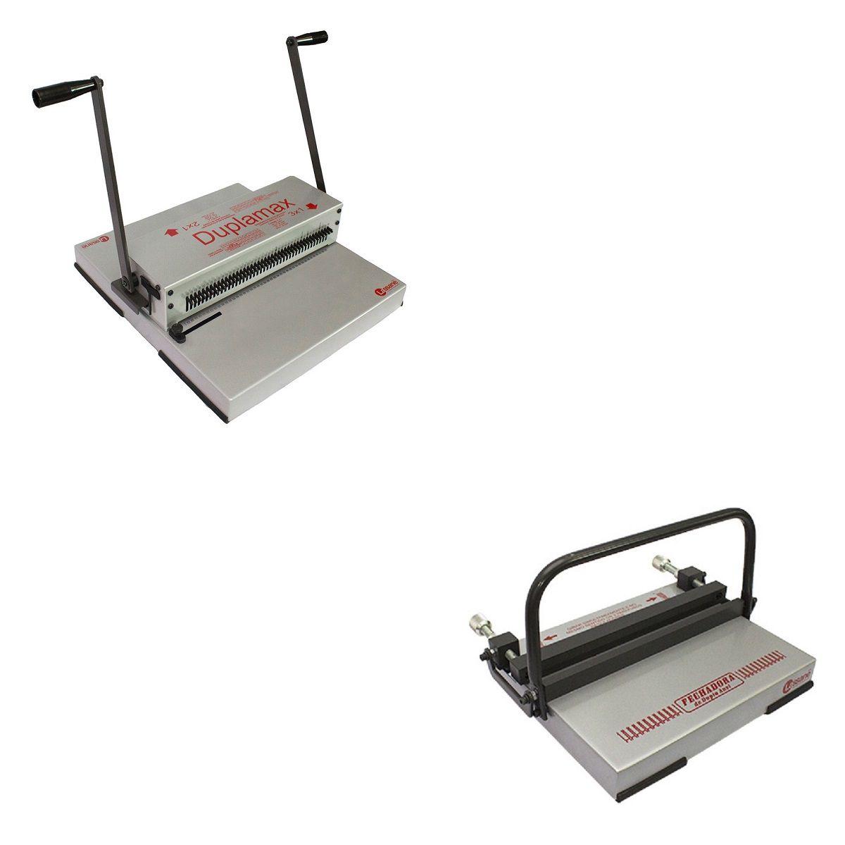 Kit Encadernadora Duplamax + Fechador Wire-o 45cm Lassane  - Click Suprimentos