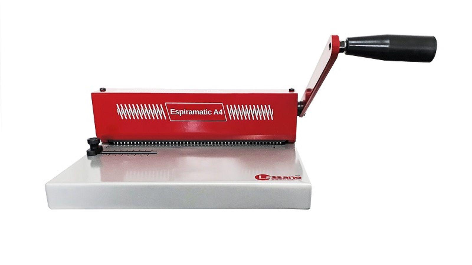 Kit Encadernadora Espiramatic A4 + 200 Capas e 100 Espirais  - Click Suprimentos