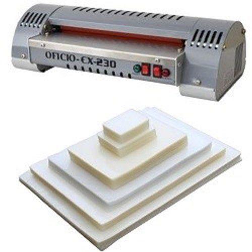 Kit Plastificadora A4 Oficio Excentrix EX-230 + 400 Plásticos  - Click Suprimentos