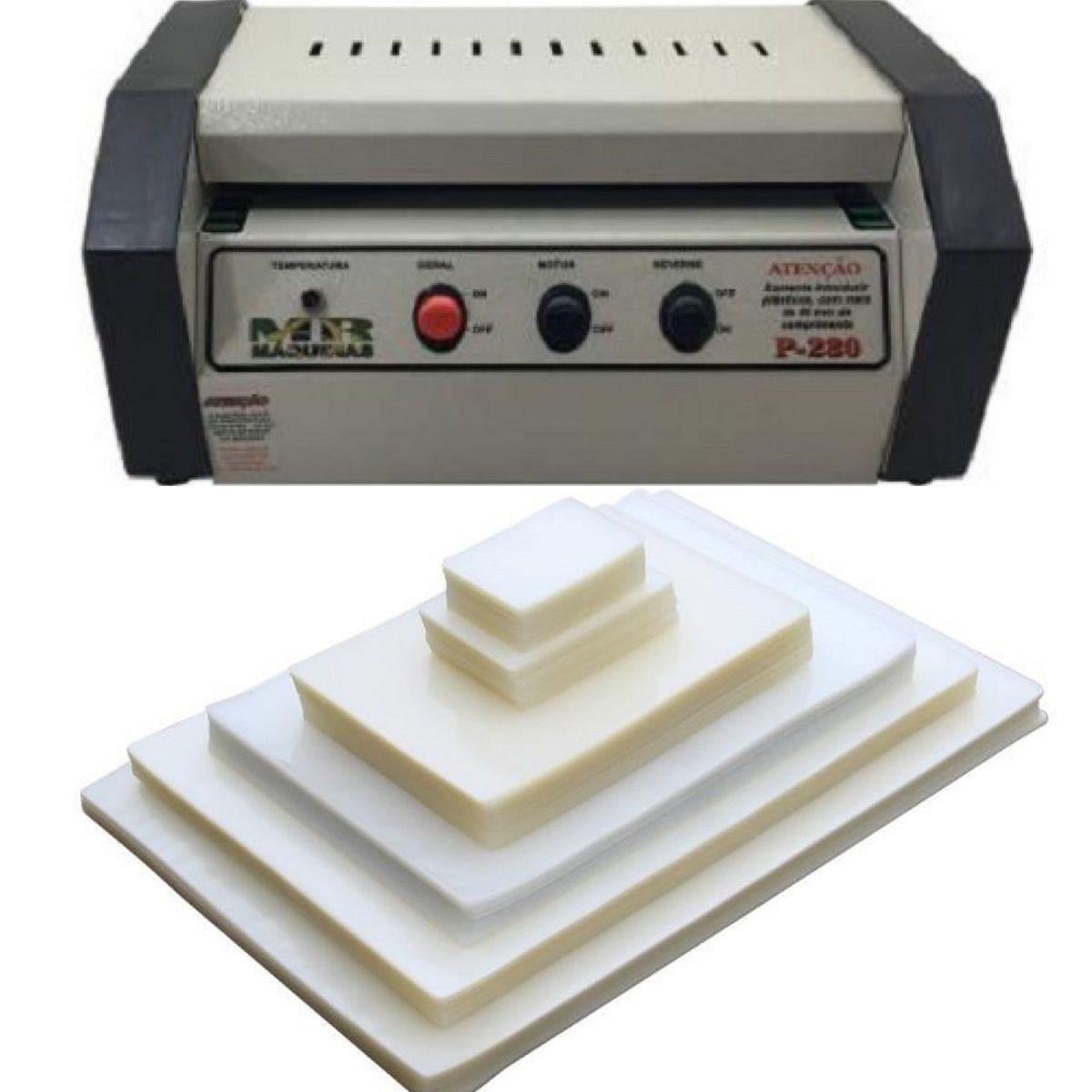 Kit Plastificadora A4 Oficio P280 + 600 Plásticos  - Click Suprimentos