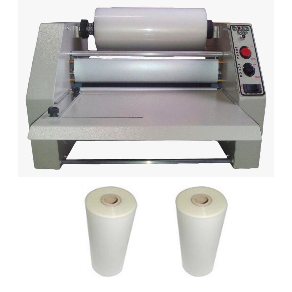 Kit Plastificadora Rotativa Oficio R280 + 2 Bobinas 23cm  - Click Suprimentos