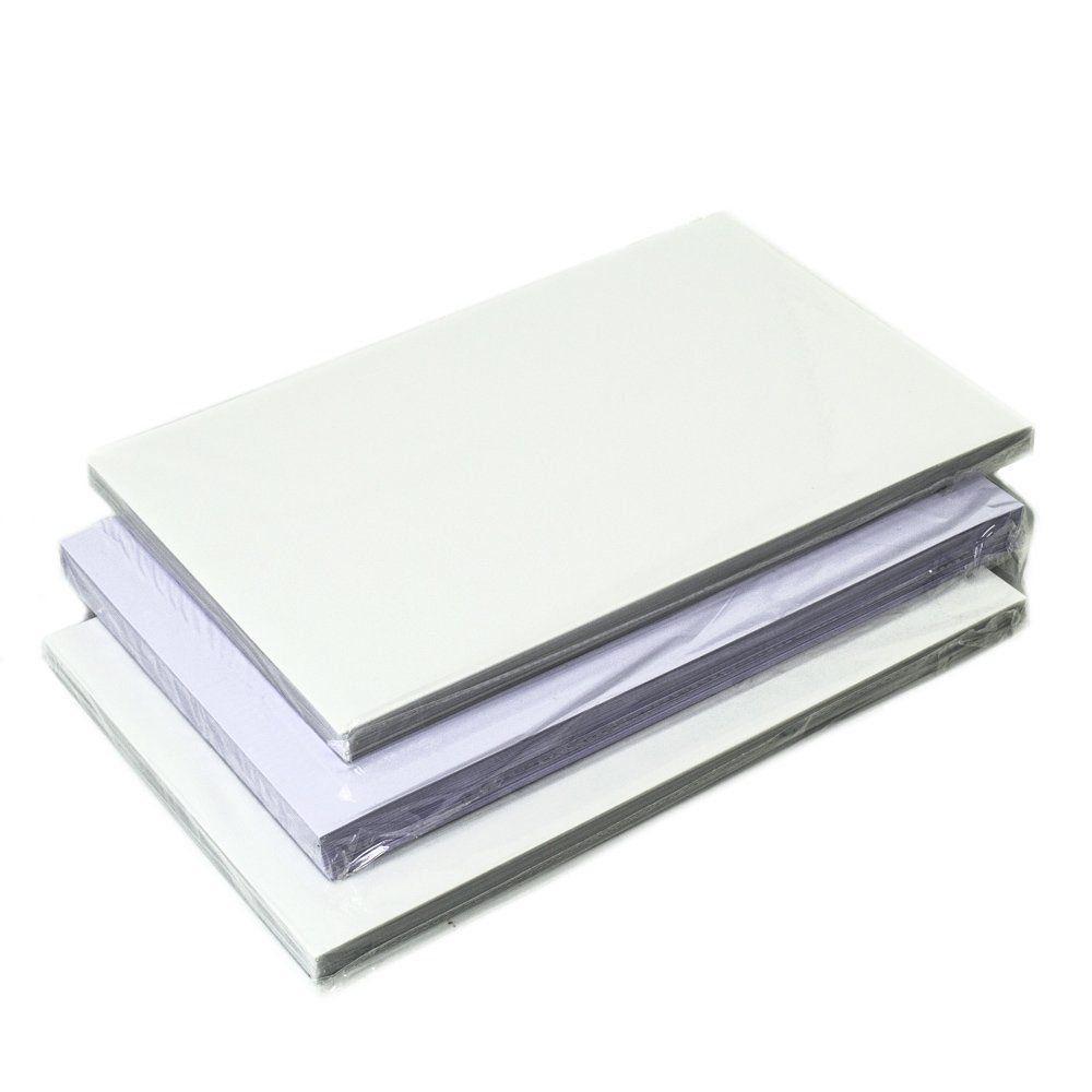 Placas de PVC Imprimível Jato de Tinta para Crachá A4 200x300x0,76mm - Caixa com 50 Jogos  - Click Suprimentos