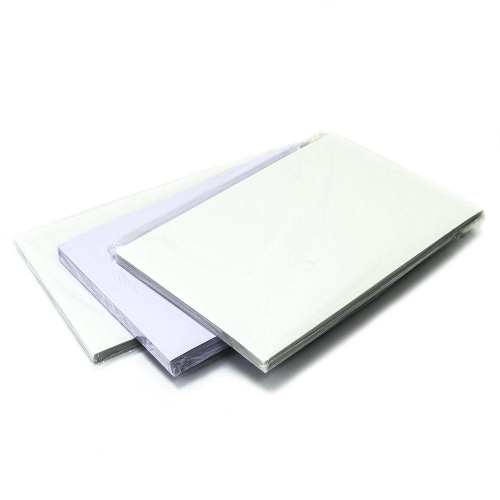 Placas de PVC (PET) Imprimível à Laser para Crachá A4 200x300x0,76mm - Pacote com 10 Jogos  - Click Suprimentos