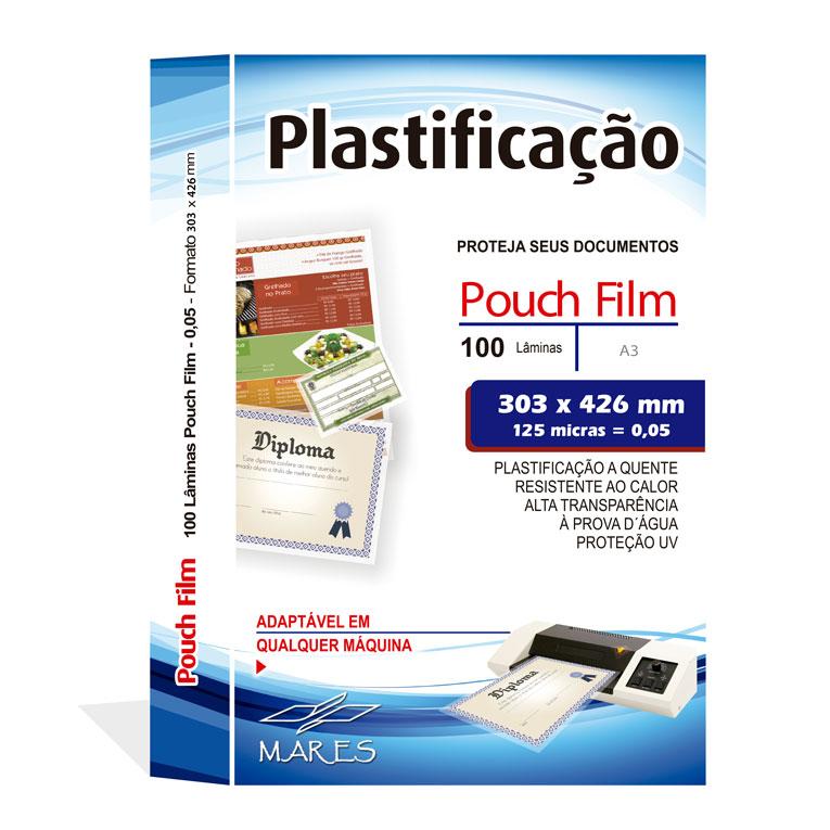 Polaseal para Plastificação A3 303x426x0,05mm (125 micras) - Pacote com 100 unidades  - Click Suprimentos