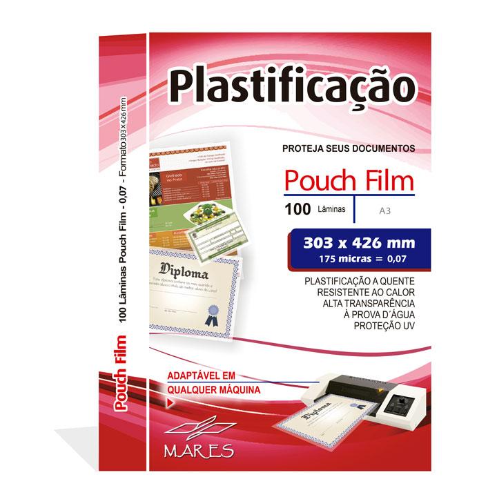 Polaseal para Plastificação A3 303x426x0,07mm (175 Micras) - Pacote com 100 unidades  - Click Suprimentos