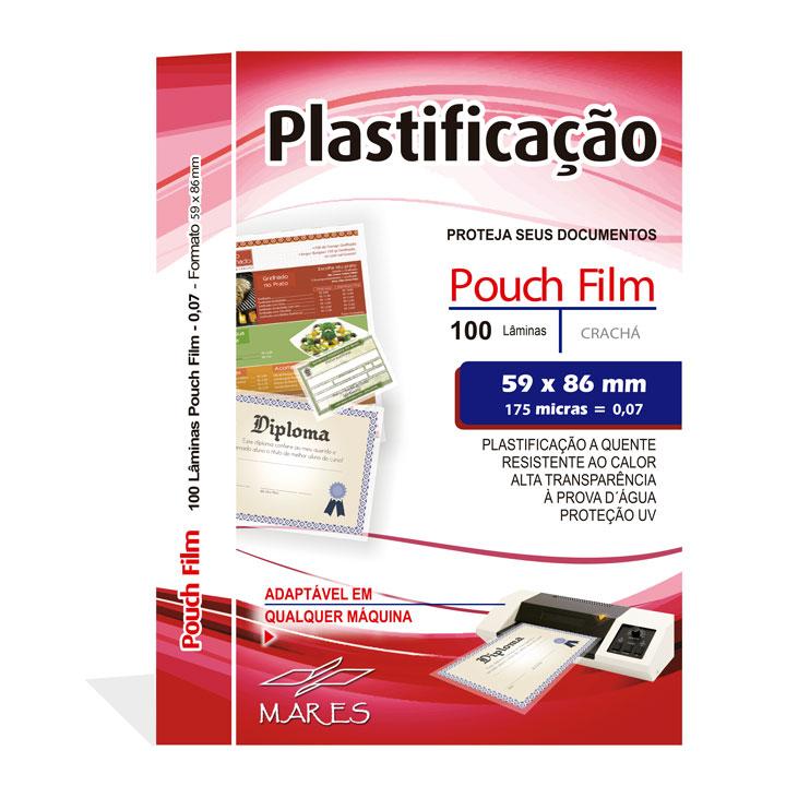 Polaseal para Plastificação Crachá 59x86x0,07mm (175 micras) - Pacote com 100 unidades  - Click Suprimentos