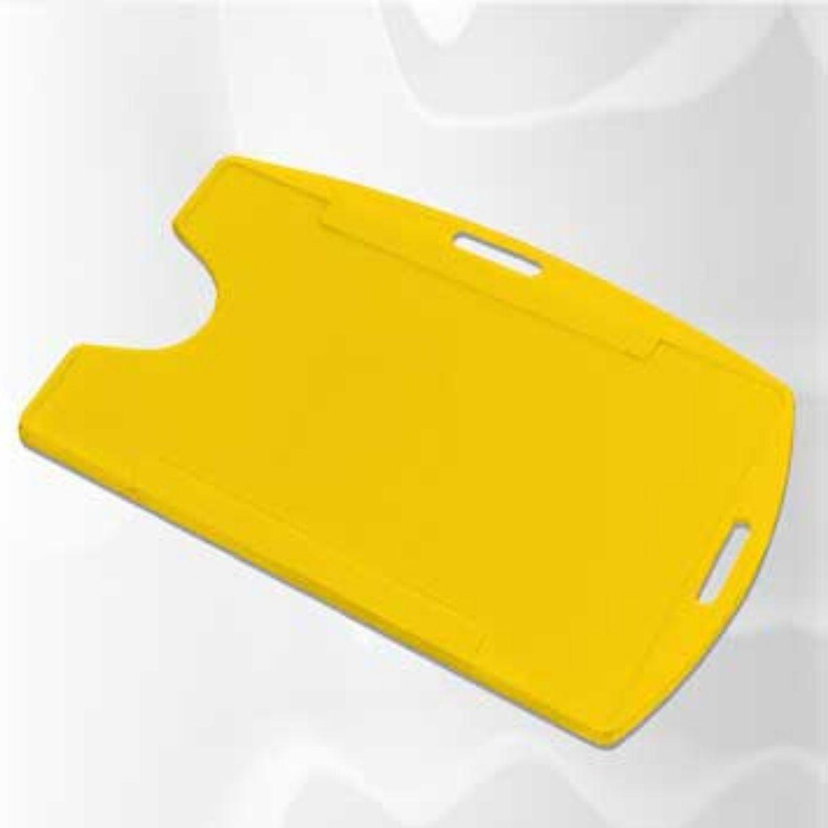 Porta Crachá Rígido M3 Conjugado Amarelo - Caixa com 100 unidades  - Click Suprimentos