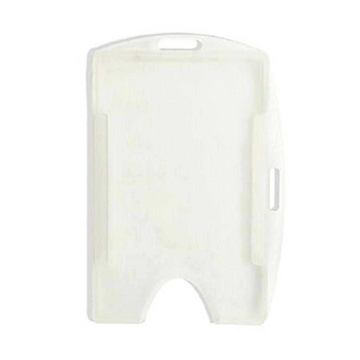 Porta Crachá Rígido M3 Conjugado Branco - Caixa com 100 unidades  - Click Suprimentos