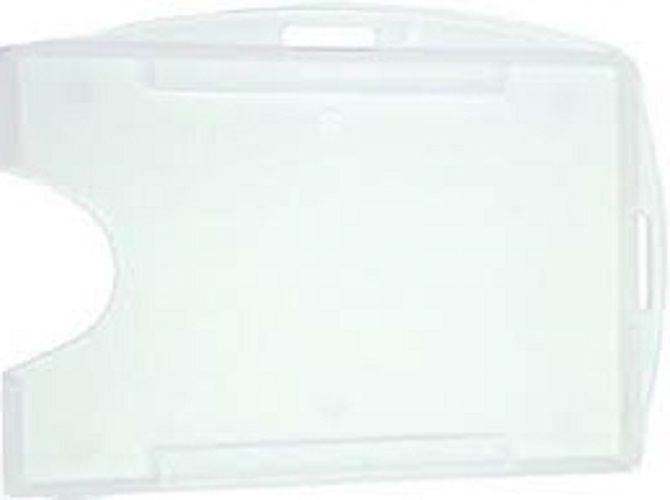 Kit 1000 Protetores Porta Crachá Rígido M3 Conjugado Duplo Transparente (Cristal)  - Click Suprimentos
