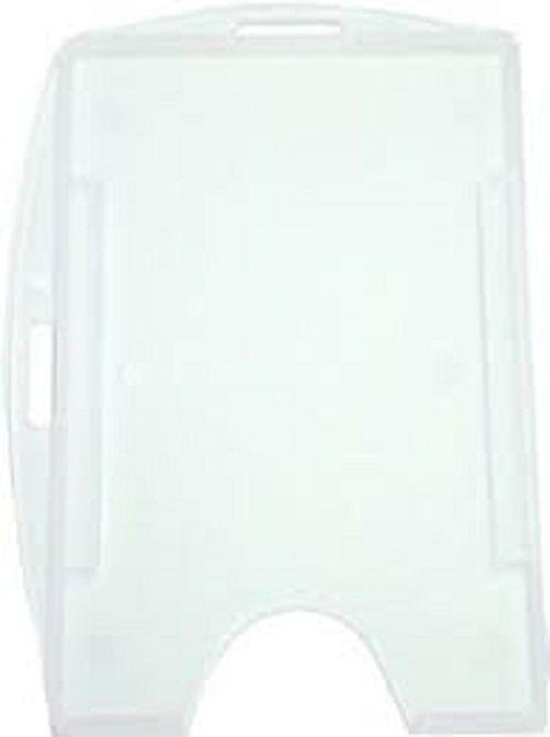 Porta Crachá Rígido M3 Conjugado Duplo Transparente (Cristal) - Caixa com 100 unidades  - Click Suprimentos