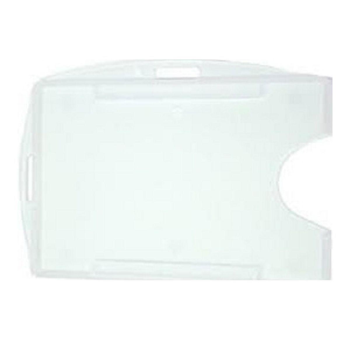 Porta Crachá Rígido M3 Conjugado Transparente (Cristal) - Caixa com 100 unidades  - Click Suprimentos