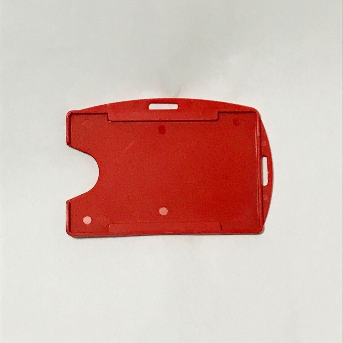Porta Crachá Rígido M3 Conjugado Vermelho - Caixa com 100 unidades  - Click Suprimentos