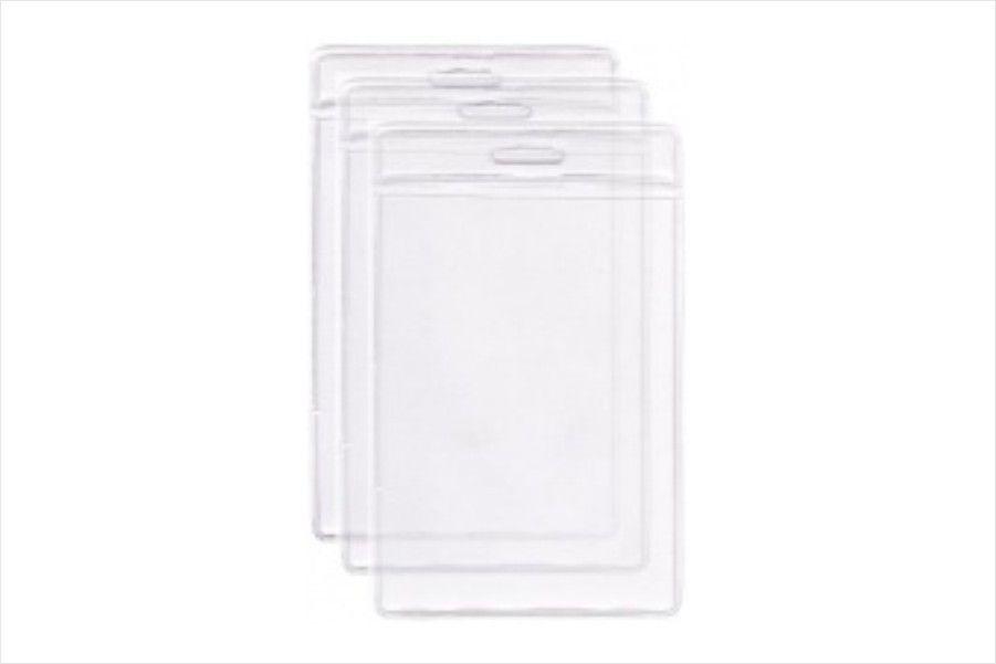 Protetor Porta Crachá em Bolsa PVC Cristal Vertical 58x89x0,20mm - Pacote com 100 unidades  - Click Suprimentos