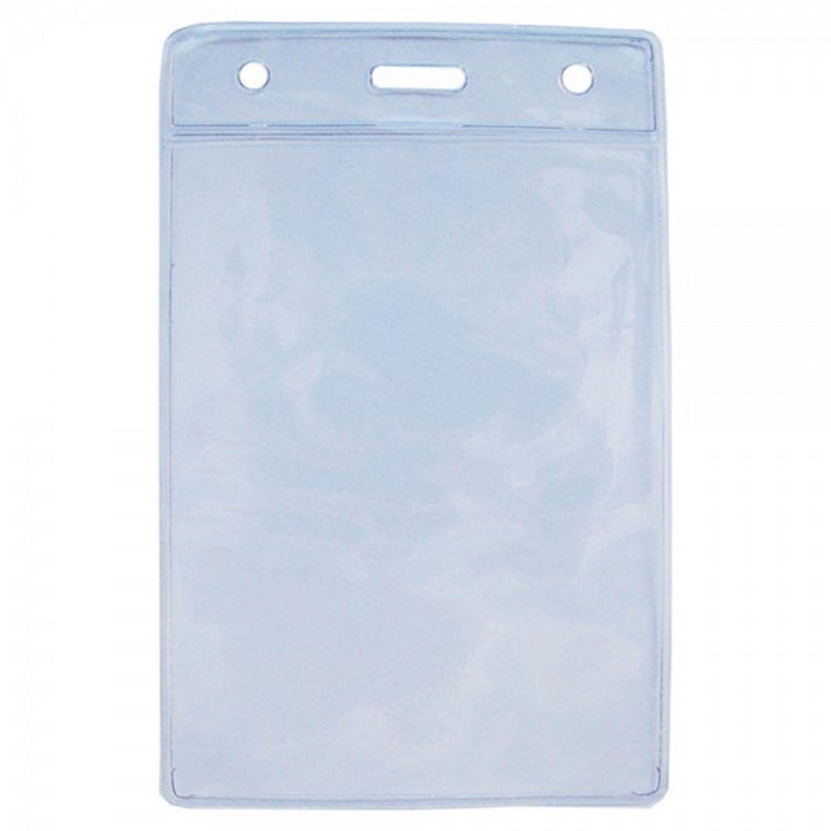 Protetor Porta Credencial em Bolsa PVC Cristal Vertical 100x150x0,20mm (10x15cm) - Pacote com 100 unidades  - Click Suprimentos