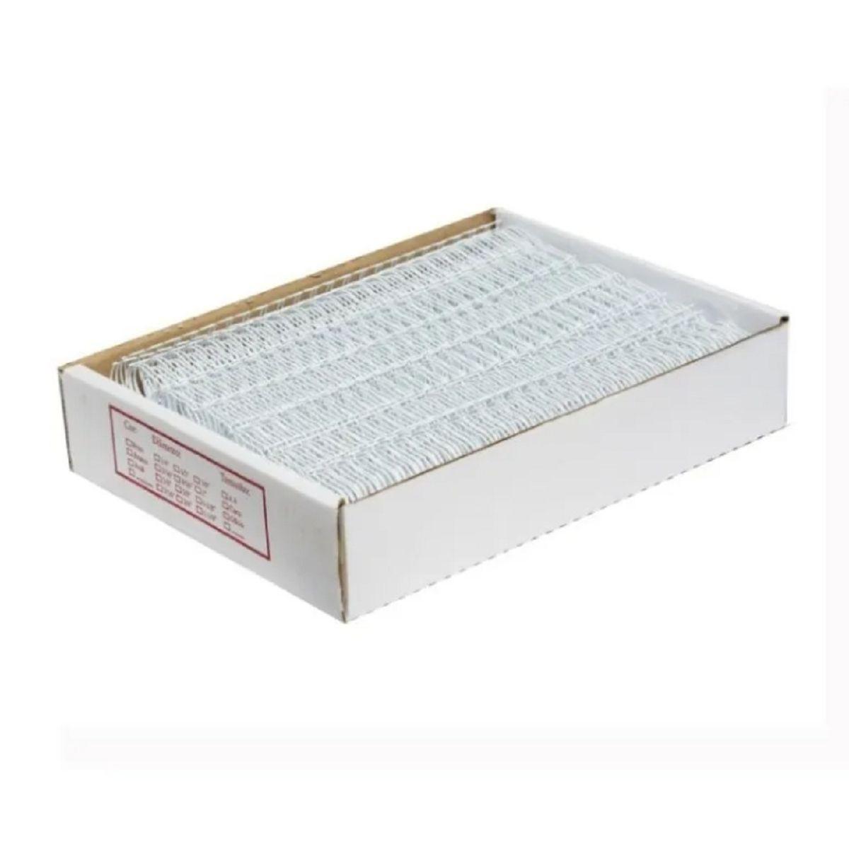 """Wire-o Para Encadernação A4 Branco 1 1/8"""" Até 250 Folhas (Passo 2x1) - Caixa com 25 unidades  - Click Suprimentos"""