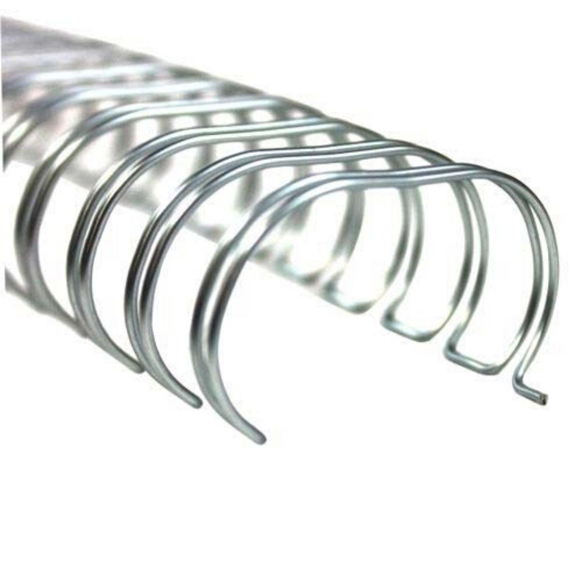 """Wire-o Para Encadernação A4 Prata 5/8"""" Até 120 Folhas (Passo 2x1) - Caixa com 50 unidades  - Click Suprimentos"""