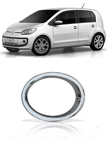 Aro Moldura Farol de Milha Volkswagen UP 2015 Cromado