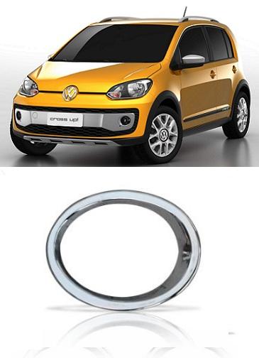 Aro Moldura Farol de Milha Volkswagen UP Cross 2015 Cromado