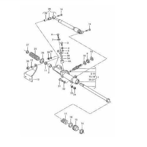 Caixa de Direção Mecânica Gol Parati Saveiro G2 G3 G4 TRW