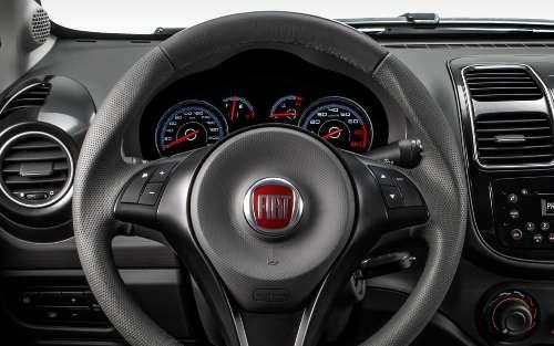 Capa Airbag Fiat Novo Palio e Grand Siena 2012 2013 Preto