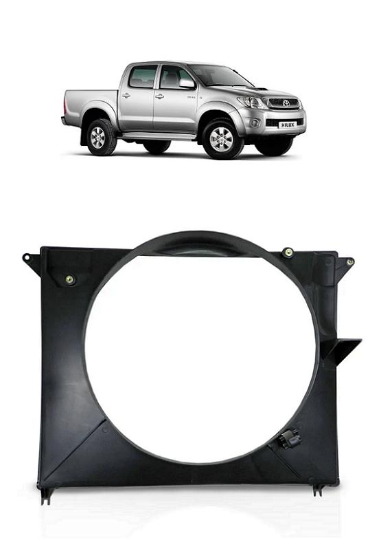 Defletor Diesel Radiador Hilux Pick-up SW4 2005 a 2015 3.0