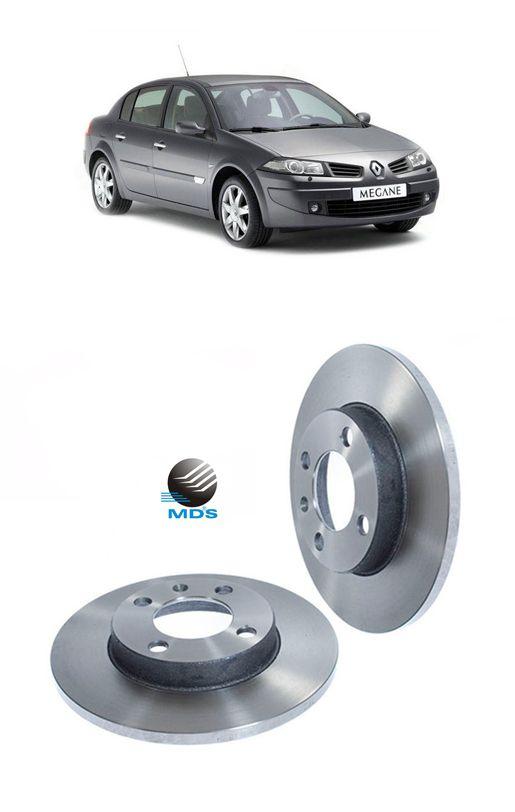 Disco de freio dianteiro renault megane 06 a 15 1.6 2.0 mds D842E
