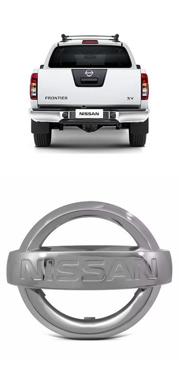 Emblema Tampa Traseira Nissan Frontier 2008 a 2015 Cromado Para Adaptação