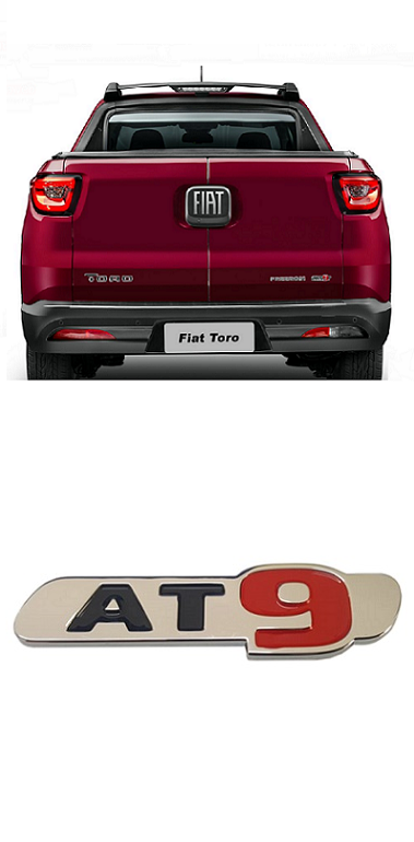 Emblema Traseiro Fiat Toro AT9