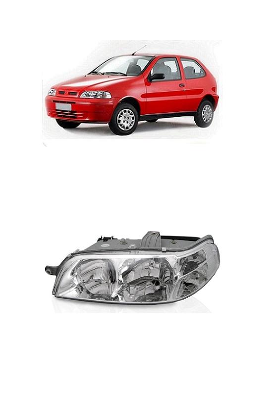 Farol Fiat Palio Siena Strada 2001 2002 2003 2004 2005 2006 2007 Carcaça Cinza