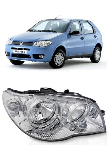 Farol Fiat Palio Siena Strada 2004 a 2011 Foco Duplo Cromado