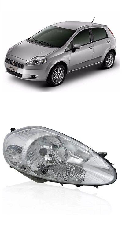 Farol Fiat Punto 2007 2008 2009 2010 2011 2012 Cromado