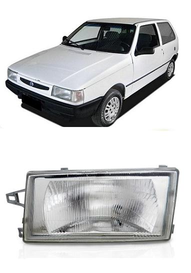 Farol Fiat Uno 1991 a 2003 Cristal