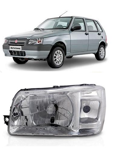 Farol Fiat Uno Fiorino 2004 2005 2006 2007 2008 2009 2010 Cromado