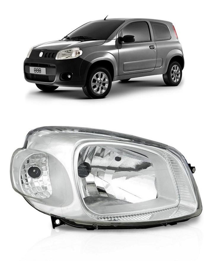 Farol Fiat Uno Vivace 2011 2012 2013 2014 Cromado