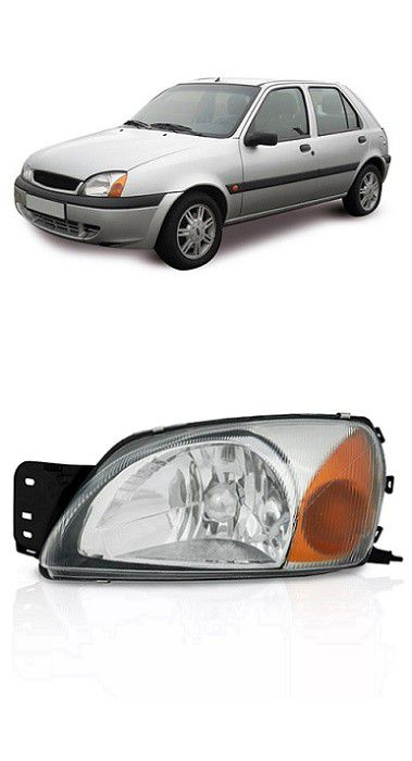 Farol Ford Fiesta 2000 a 2007 Courier 2000 a 2013 Pisca Ambar