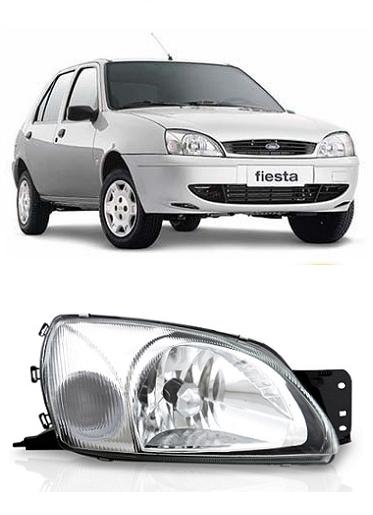 Farol Ford Fiesta 2000 a 2007 Courier 2000 a 2013 Pisca Cristal
