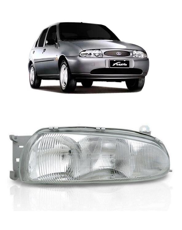 Farol Ford Fiesta Courier 1996 1997 1998 1999 Foco Duplo Pisca Cristal