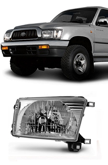 Farol Hilux Pickup 2002 2003 2004 e SW4 1992 1993 1994 1995  Foco Simples