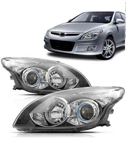 Farol Hyundai I30 2009 2010 2011 2012 Máscara Negra
