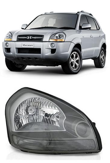 Farol Hyundai Tucson 2006 a 2015 Pisca Cristal
